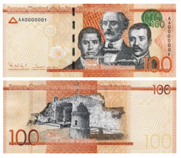 100 Dominican pesos banknote