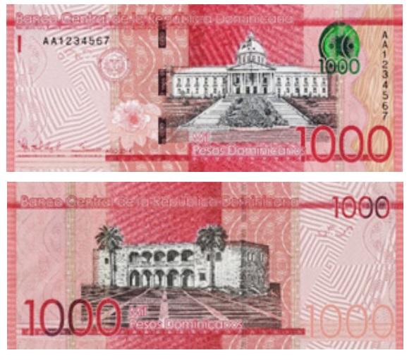 1000 Dominican pesos banknote