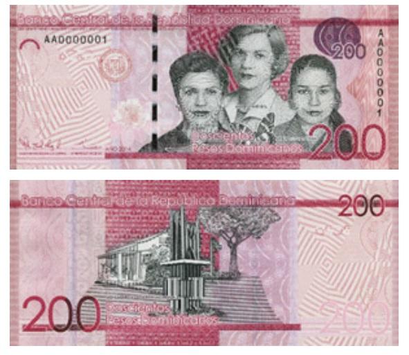200 Dominican pesos banknote