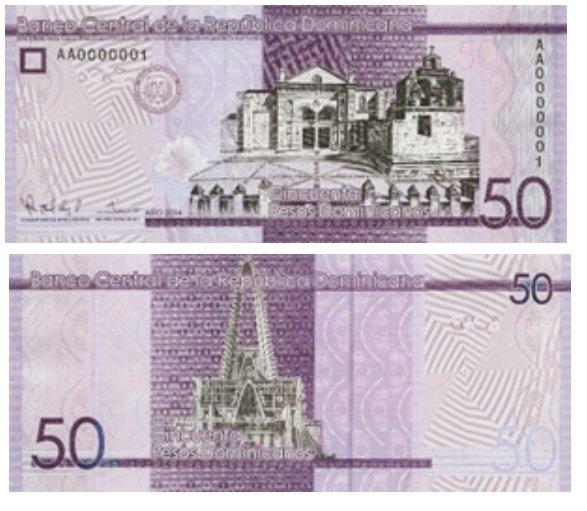 50 Dominican pesos banknote