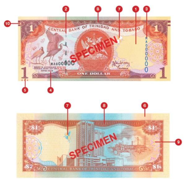 Billete de 1 dólar trinitense TTD