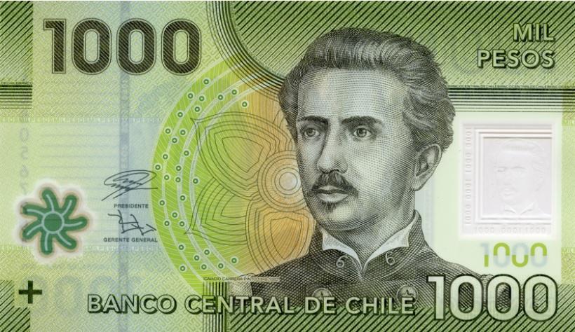 Billete de 1.000 pesos chilenos