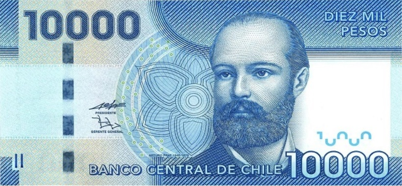 Billete de 10.000 pesos chilenos