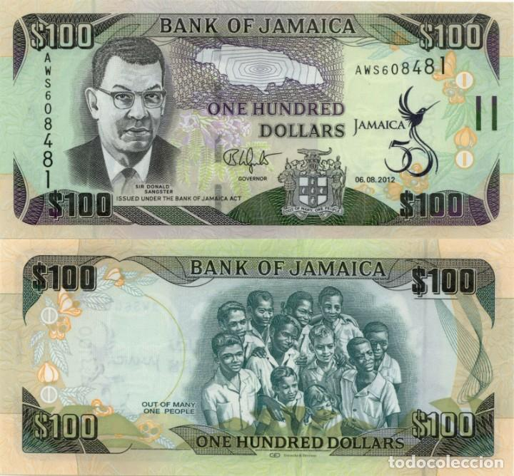 Billete de 100 dólares de Jamaica