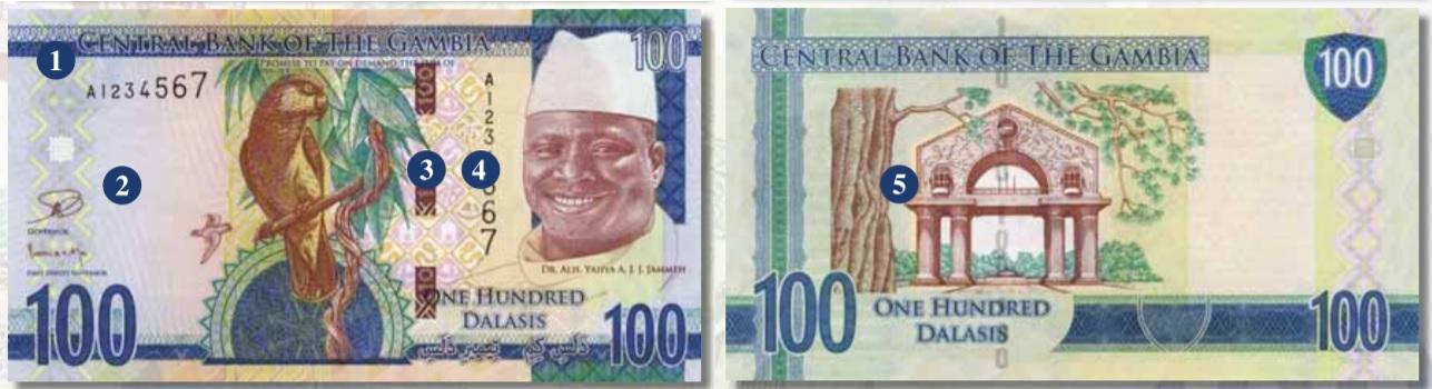 Billete de 100 dalasis de Gambia