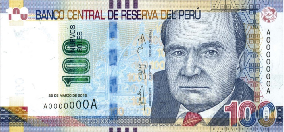 Billete de 100 soles Perú