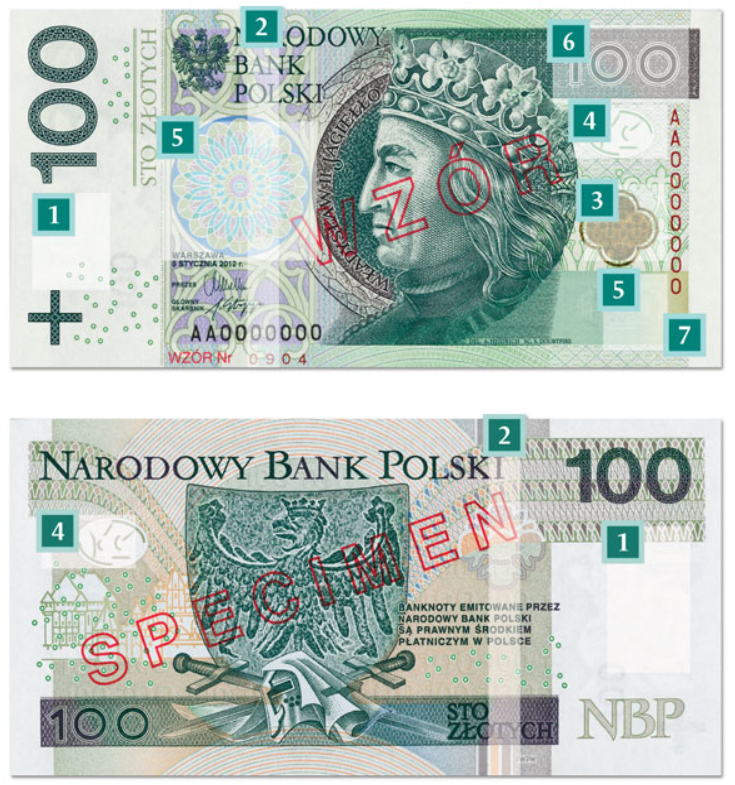 Billete de 100 zloty PLN