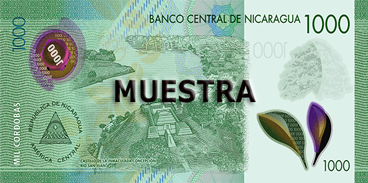 Billete de 1000 Córdobas 2019 reverso