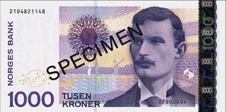 Billete de 1000 NOK de la serie VII