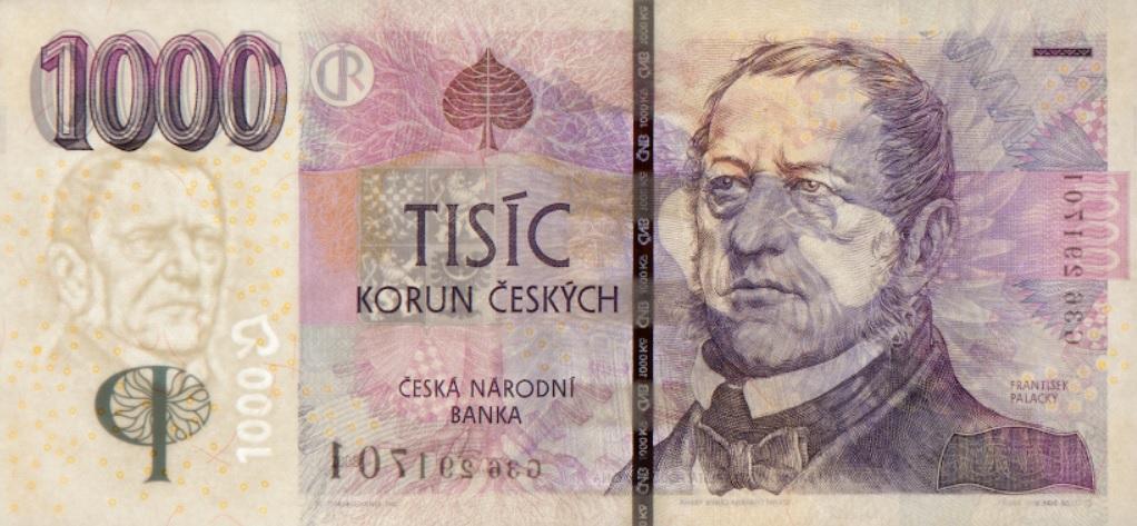 Billete de 1000 coronas checas