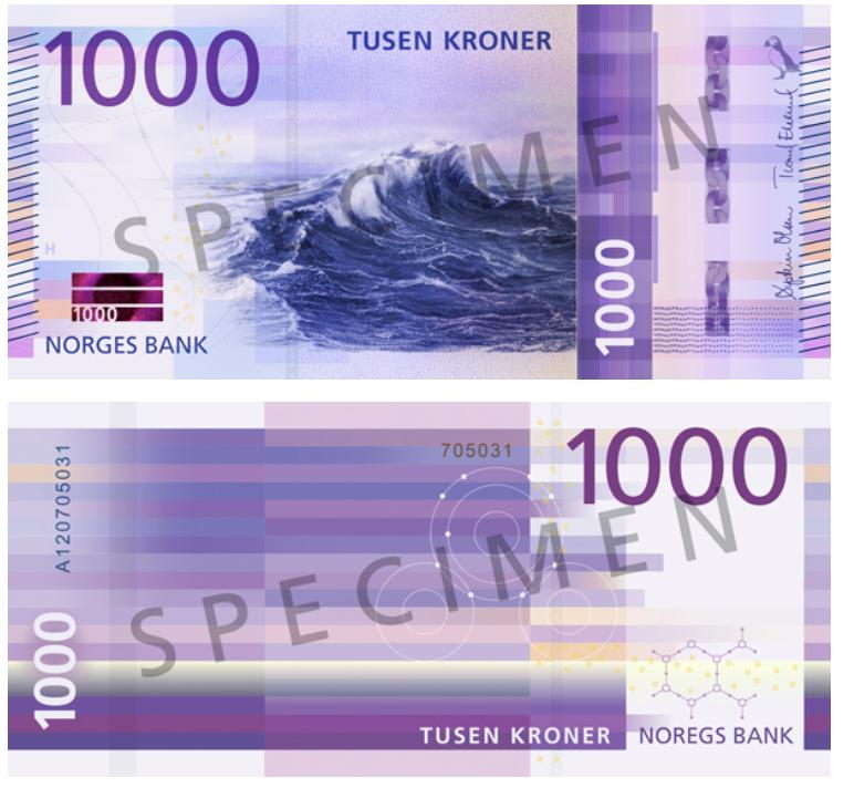 Billete de 1000 coronas noruegas (1000 NOK)