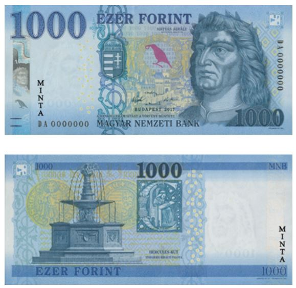 Billete de 1000 florines húngaros 1000 Ft 1000 HUF