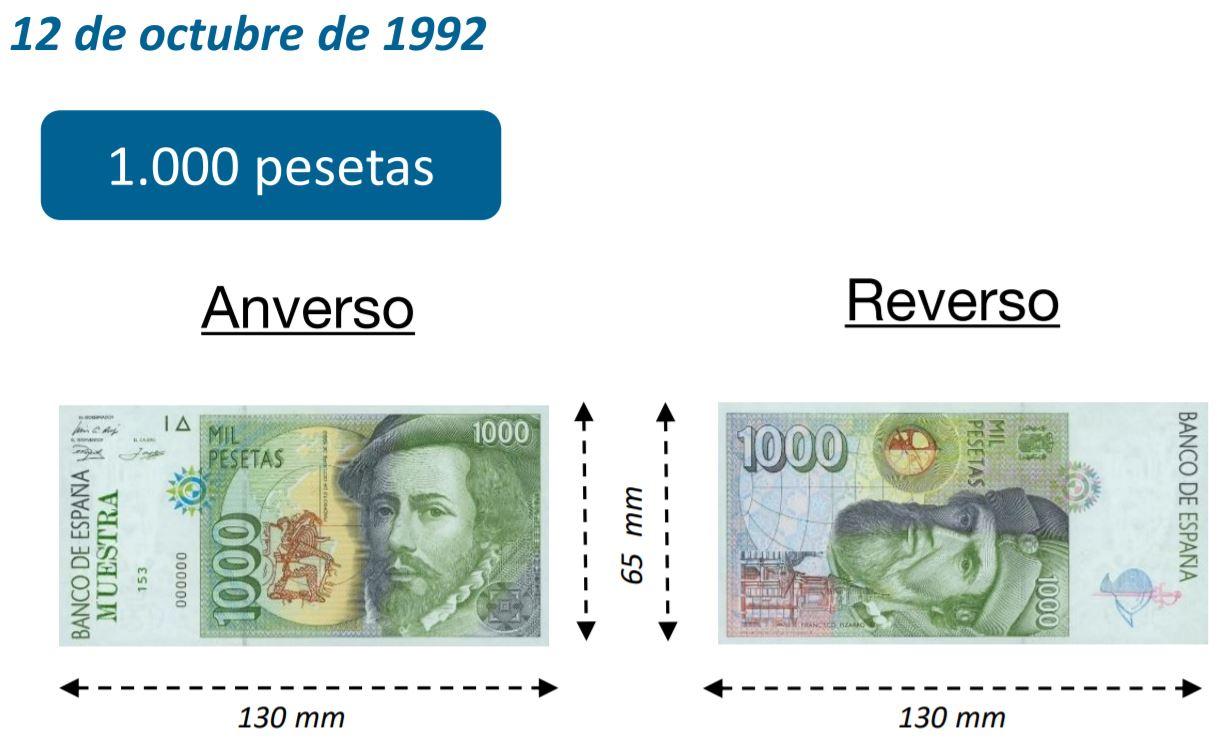 Billete de 1000 pesetas 12 octubre 1992