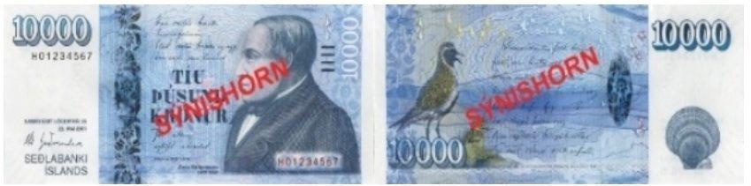 Billete de 10000 coronas islandesas ISK