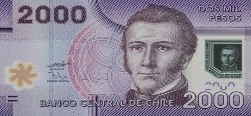 Billete de 2.000 pesos chilenos