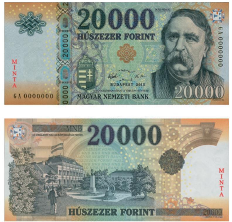 Billete de 20.000 florines húngaros