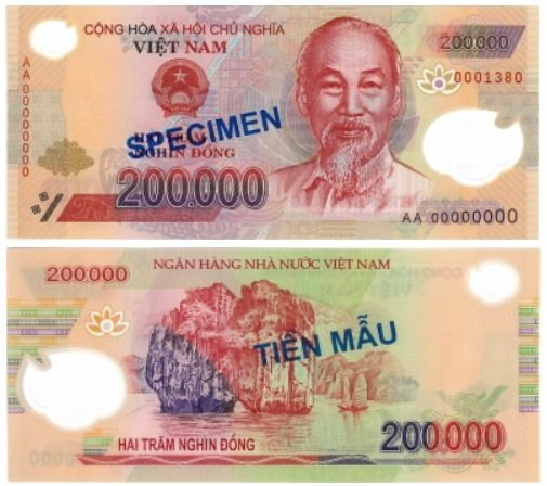 Billete de 200 000 dongs vietnamitas VND