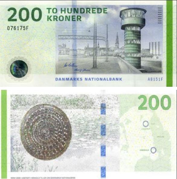 Billete de 200 coronas danesas