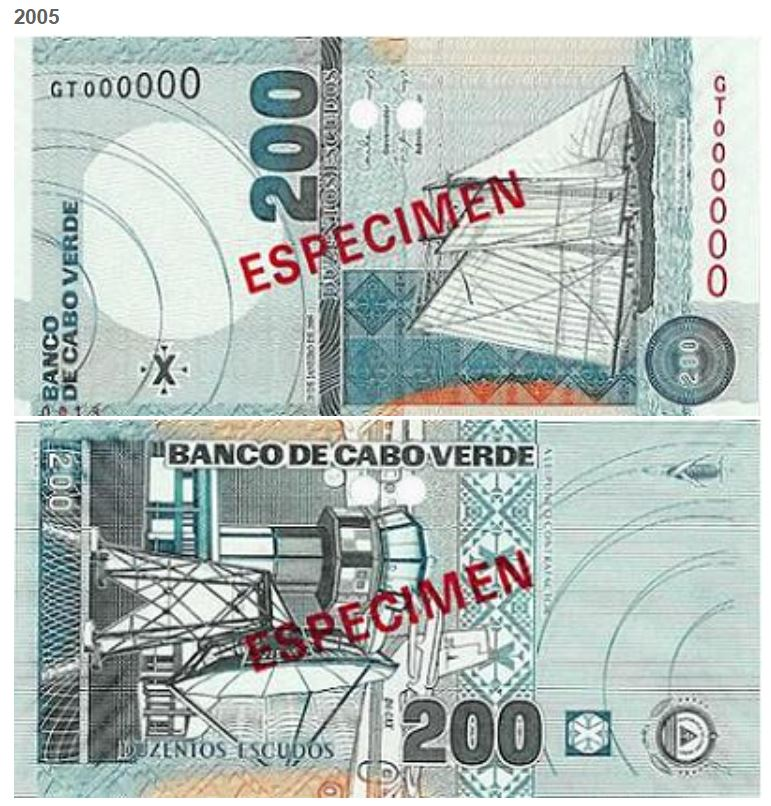 Billete de 200 escudos de Cabo Verde 200 CVE