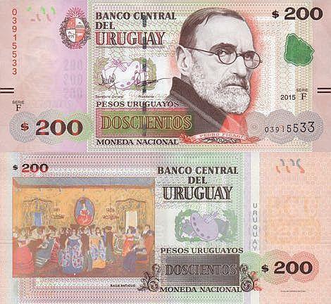 Billete de 200 pesos uruguayos