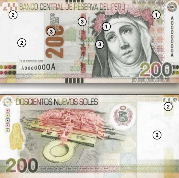 Billete de 200 soles Perú