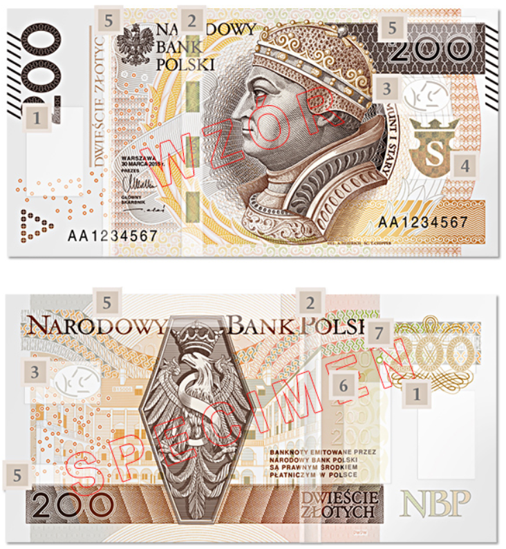 Billete de 200 zloty PLN
