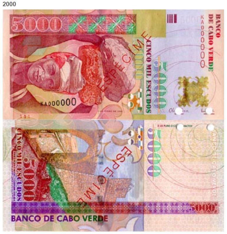 Billete de 2000 escudos de Cabo Verde 2000 CVE