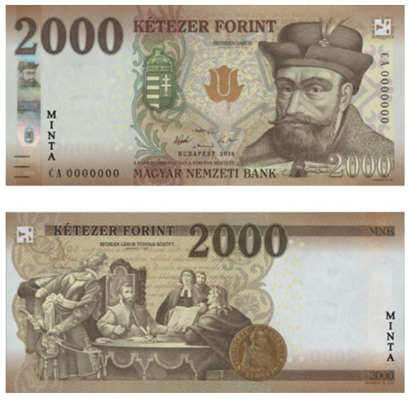 Billete de 2000 florines húngaros 2000 Ft 2000 HUF