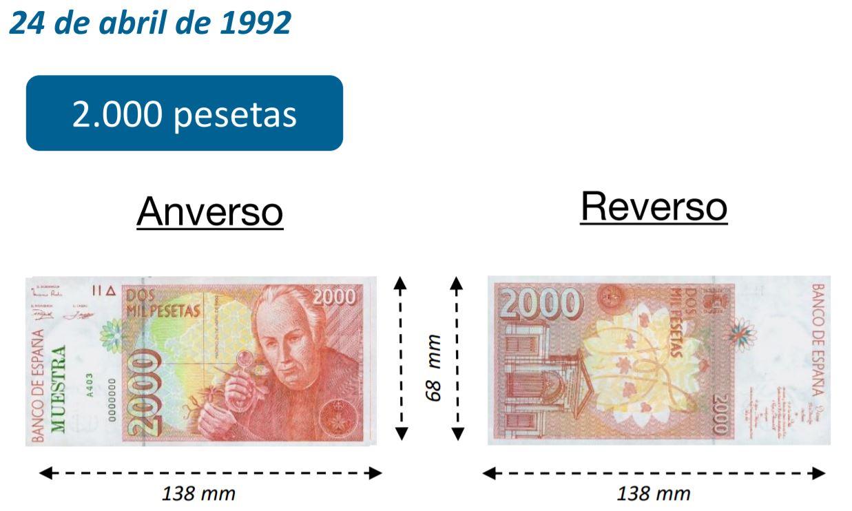 Billete de 2000 pesetas 24 abril 1992