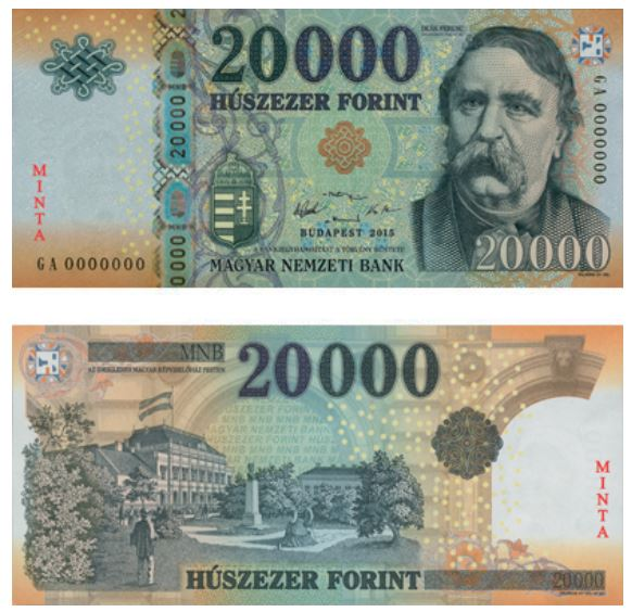 Billete de 20000 florines húngaros 20000 Ft 20000 HUF