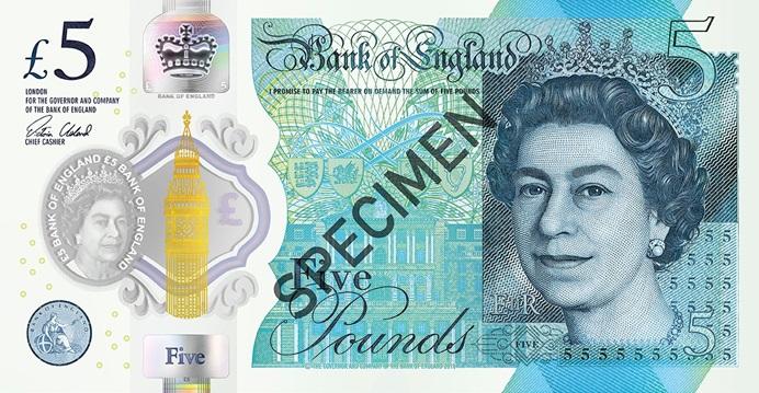 Billete de 5 libras anverso