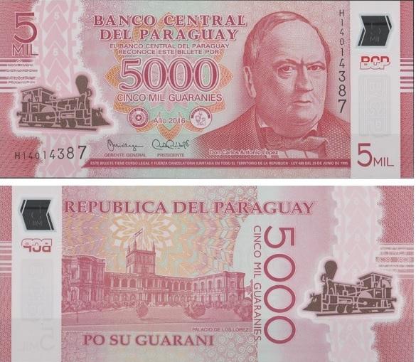 Billete de 5.000 guaraníes de Paraguay