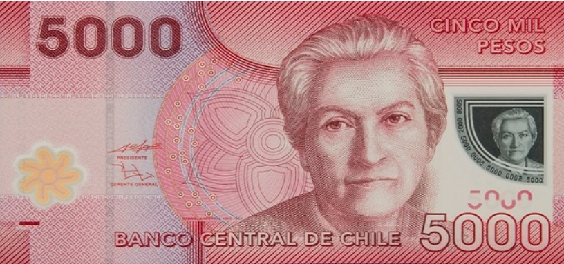 Billete de 5.000 pesos chilenos