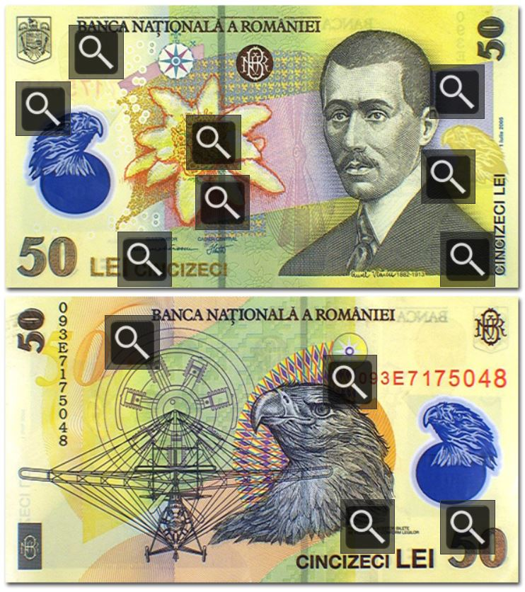 Billete de 50 Leu rumano (50 RON)