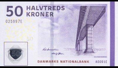 Billete de 50 coronas danesas