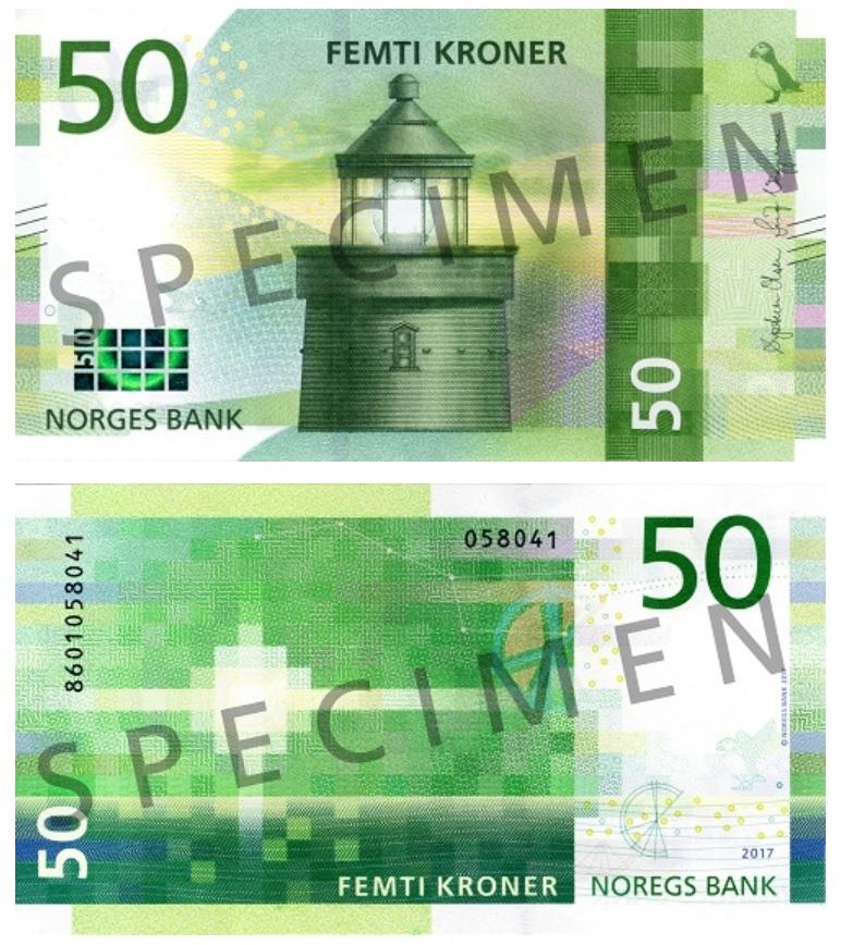 Billete de 50 coronas noruegas (50 NOK)