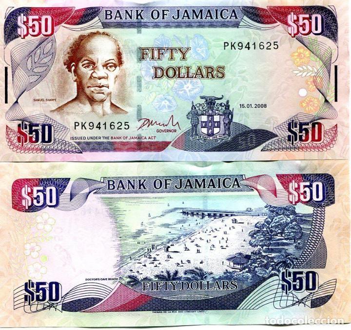 Billete de 50 dólares de Jamaica