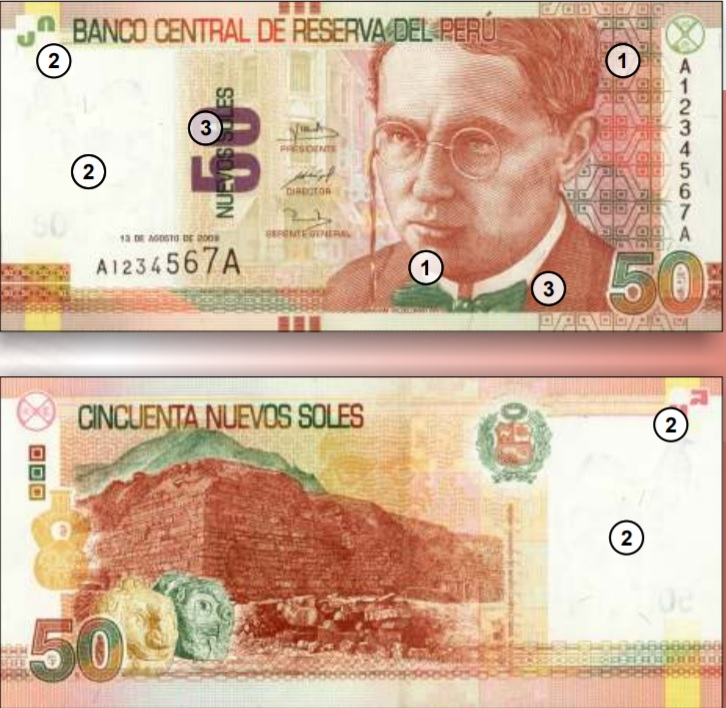 Billete de 50 soles Perú