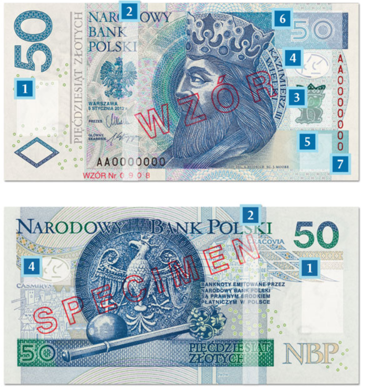 Billete de 50 zloty PLN