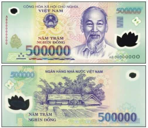 Billete de 500 000 dongs vietnamitas VND