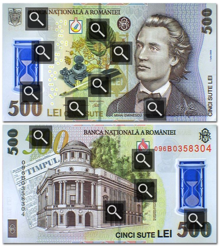 Billete de 500 Leu rumano (500 RON)