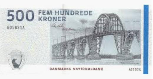 Billete de 500 coronas danesas
