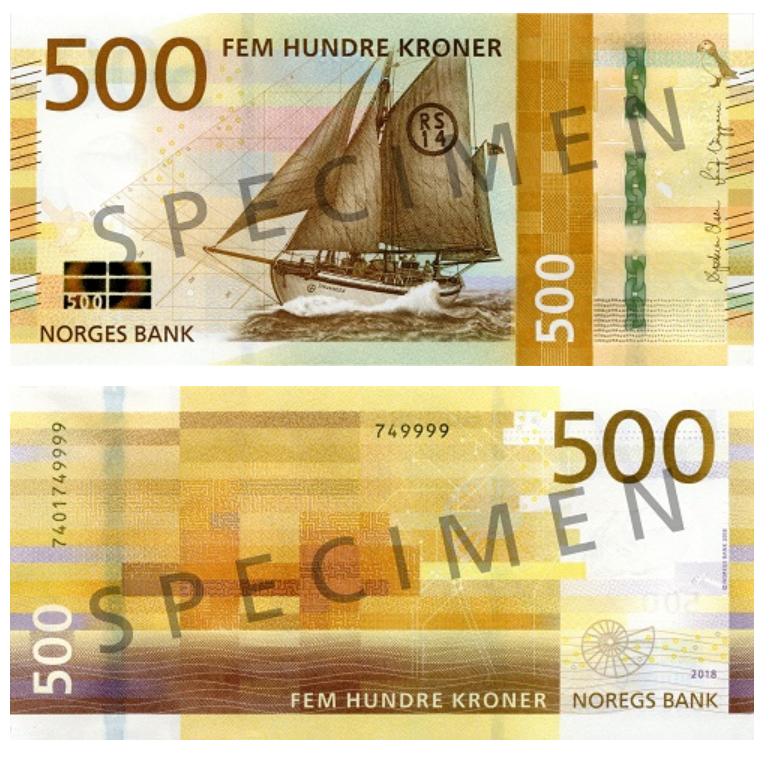Billete de 500 coronas noruegas (500 NOK)