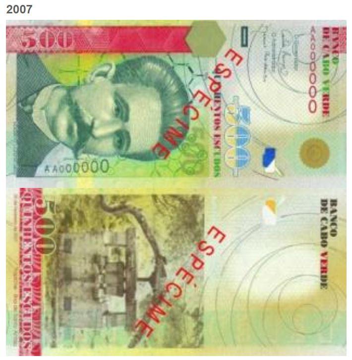 Billete de 500 escudos de Cabo Verde 500 CVE
