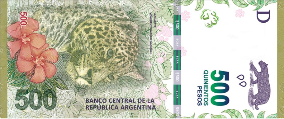 Billete de 500 pesos argentinos anverso