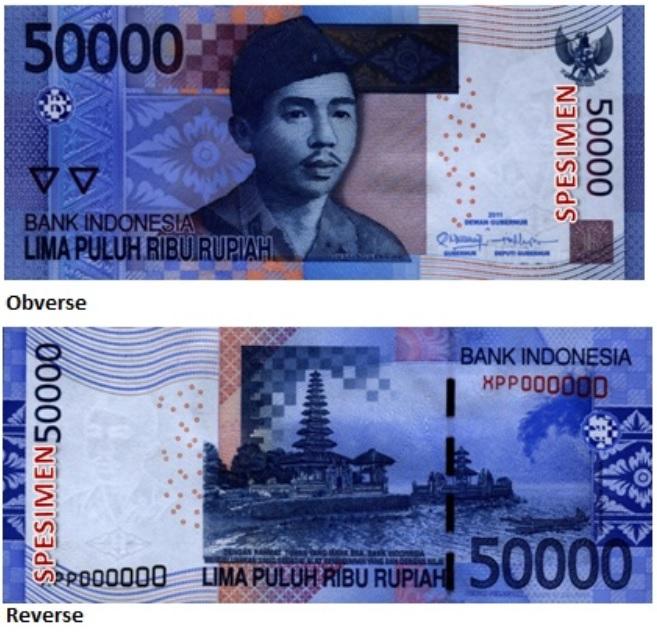 Billete de 50000 rupias indonesias IDR