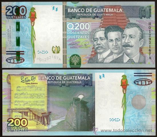 Billete de Q200 en Guatemala