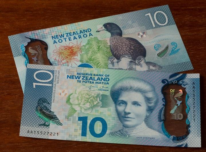 Billetes de 10 dólares neozelandeses 2015