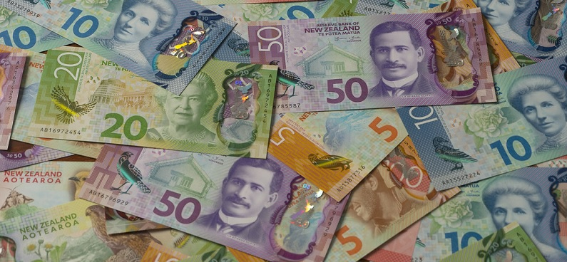 Billetes de dólar neozelandés 2019