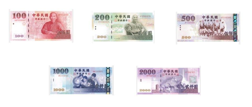 Billetes de dólar taiwanés